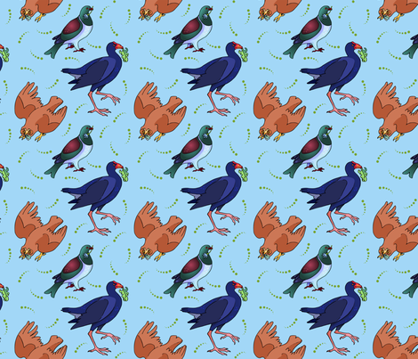 New Zealand Birds fabric by natashad on Spoonflower - custom fabric
