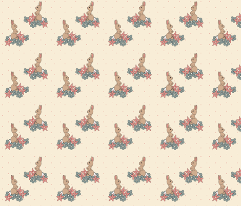 BunnyFabric fabric by bemusedart on Spoonflower - custom fabric