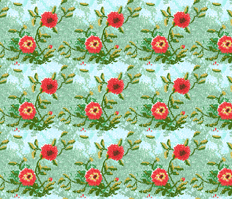 dot dahlias__1_edit2-ch fabric by khowardquilts on Spoonflower - custom fabric