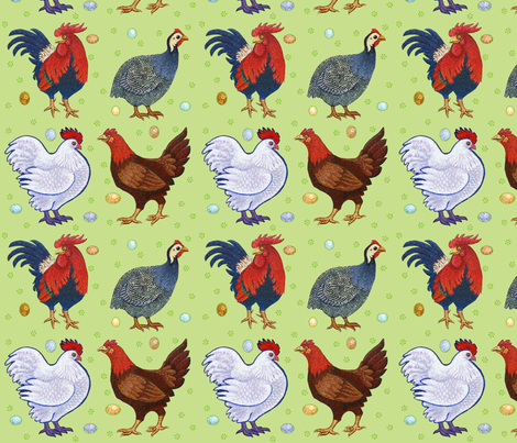 The Point of Roosters fabric by natashad on Spoonflower - custom fabric