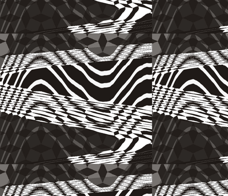 Lines_black_and_white_background fabric by cveta on Spoonflower - custom fabric