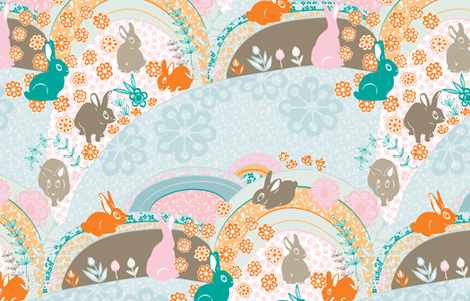 sweet bunnies fabric by miiwii on Spoonflower - custom fabric