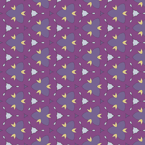Small scale purples and yellow tile fabric by ravynka on Spoonflower - custom fabric