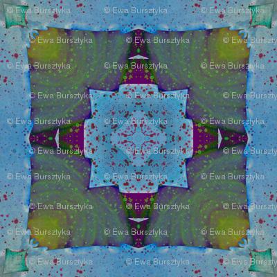 Watercolor caleidoscope 3