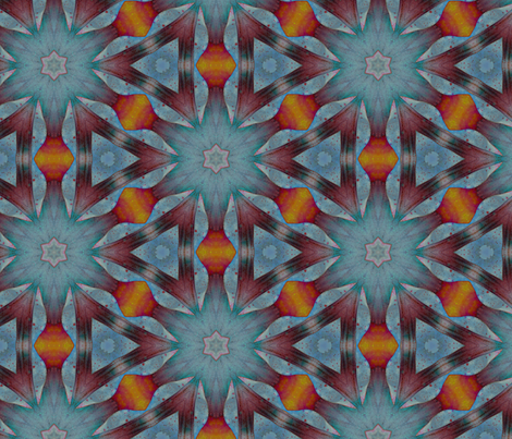watercolor caleidoscope 2 fabric by ravynka on Spoonflower - custom fabric