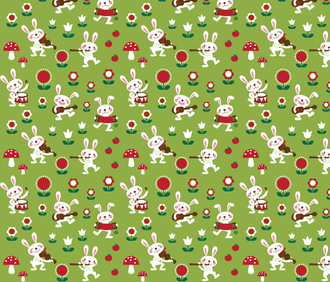 The Bunny Band fabric by bora on Spoonflower - custom fabric