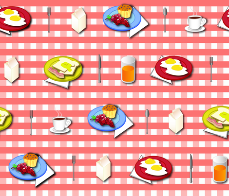 Breakfast_Picnic fabric by illustrative_images on Spoonflower - custom fabric