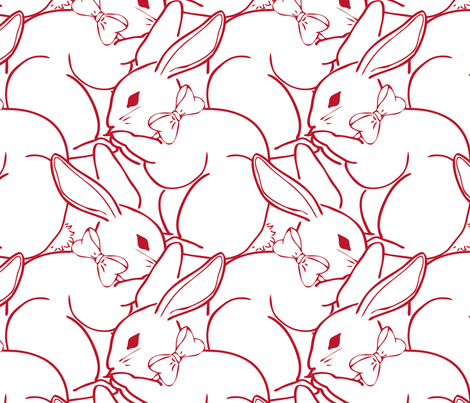 Billions of Bunnies fabric by jmckinniss on Spoonflower - custom fabric