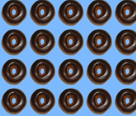 chocolateglazeddonut fabric by serenity_ii on Spoonflower - custom fabric