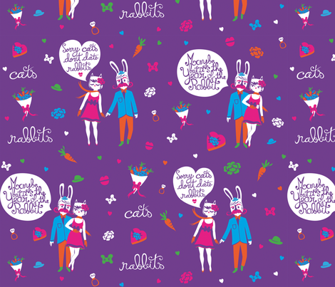 Year of the rabbit fabric by made_in_shina on Spoonflower - custom fabric