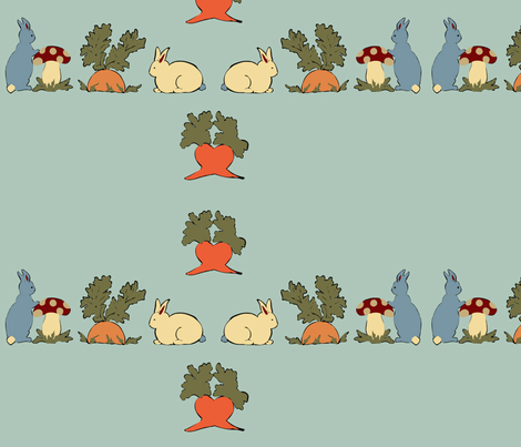 funny bunnies love carrots fabric by kri8f on Spoonflower - custom fabric