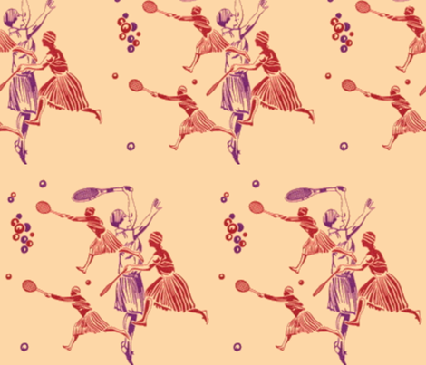 Anyone for tennis? fabric by halfhitch on Spoonflower - custom fabric