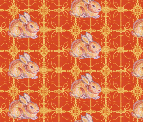 JamJax Orange Bunny fabric by jamjax on Spoonflower - custom fabric