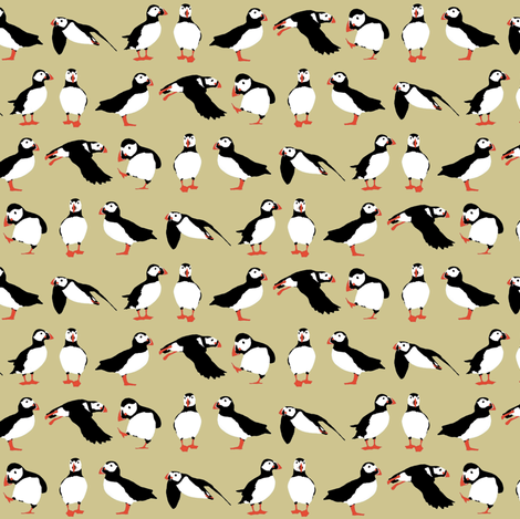 just puffins buff small fabric by scrummy on Spoonflower - custom fabric