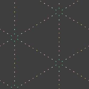 Pastel triangles on graphite