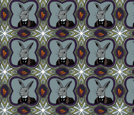 mr rabbit fabric by ravynka on Spoonflower - custom fabric
