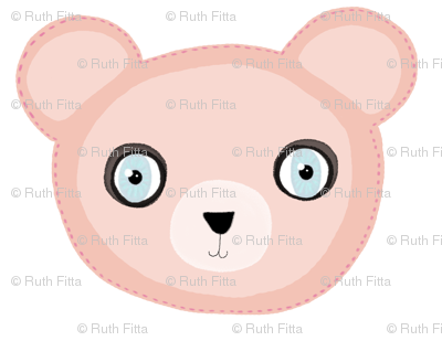 A 5 February 2011 - Pink Teddy Bear Fabric