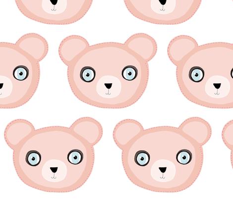 A 5 February 2011 - Pink Teddy Bear Fabric fabric by rupydetequila on Spoonflower - custom fabric