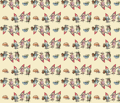 Gnomeland - A Family  fabric by catru on Spoonflower - custom fabric