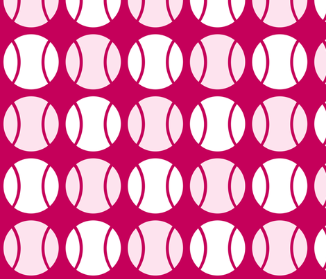 Pink Tennis Balls fabric by audreyclayton on Spoonflower - custom fabric