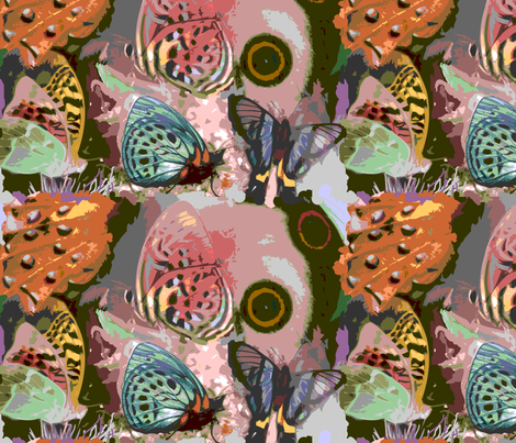 Butterfly Collage fabric by may_flynn on Spoonflower - custom fabric