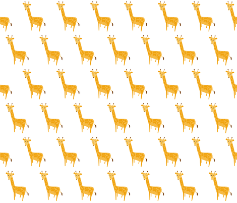 Giraffe Illustration fabric by meg56003 on Spoonflower - custom fabric