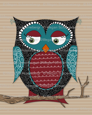 Owlivia the Owl with stripes