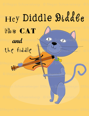 Hey Diddle Diddle Cat-gold