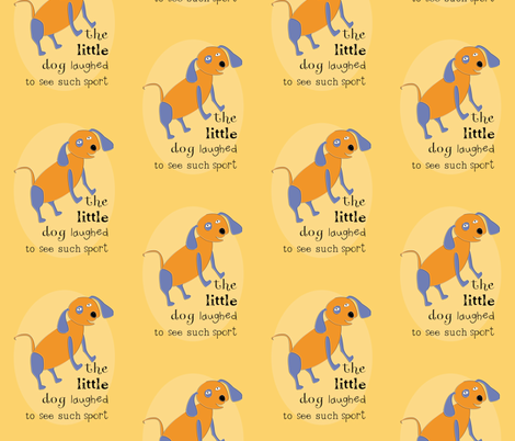Hey Diddle Diddle Dog-gold fabric by meg56003 on Spoonflower - custom fabric