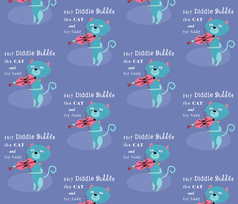 Hey Diddle Diddle Cat fabric by meg56003 on Spoonflower - custom fabric