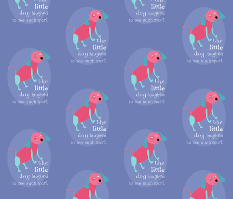 Hey Diddle Diddle Dog fabric by meg56003 on Spoonflower - custom fabric