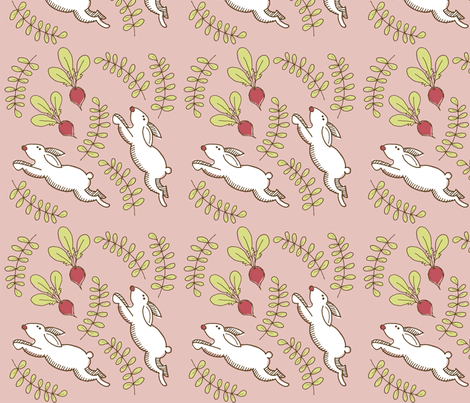 Beets & Bunnies fabric by lisaorgler on Spoonflower - custom fabric