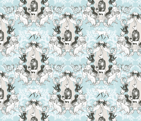 Royal Bunny fabric by mirishhh on Spoonflower - custom fabric