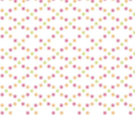 Starburst Constellation(Pink/Orange/Lime) fabric by designedtoat on Spoonflower - custom fabric