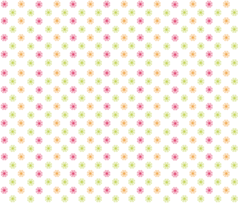 Starburst Patchwork(Pink/Orange/Lime) fabric by designedtoat on Spoonflower - custom fabric