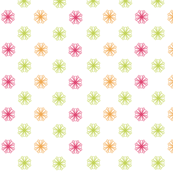 Starburst Patchwork(Pink/Orange/Lime)