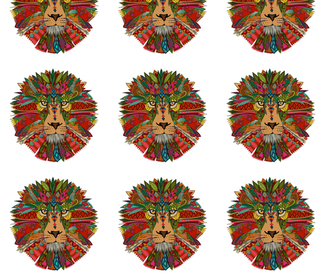 lion small fabric by scrummy on Spoonflower - custom fabric