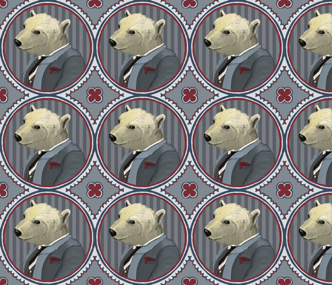 mr polar bear fabric by ravynka on Spoonflower - custom fabric
