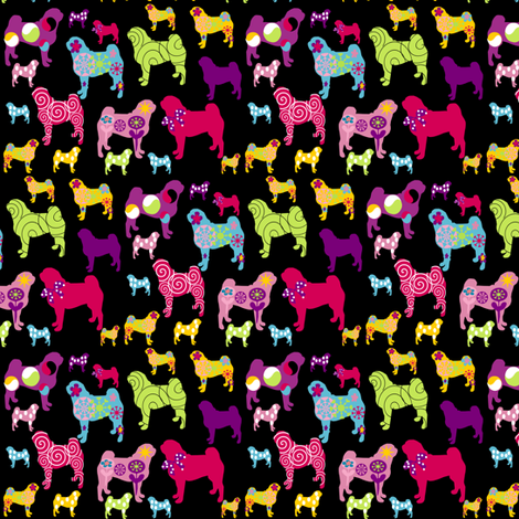 pug fabric fabric by lil_creatures on Spoonflower - custom fabric