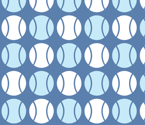 Blue Tennis Balls fabric by audreyclayton on Spoonflower - custom fabric
