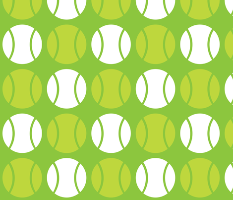 Green Tennis Balls fabric by audreyclayton on Spoonflower - custom fabric