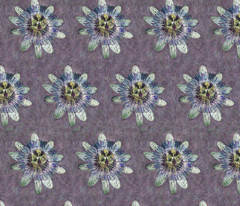 passiflora fabric by ravynka on Spoonflower - custom fabric