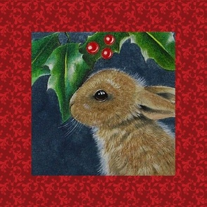 Christmas Holly Bunny