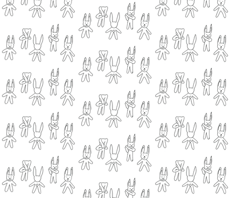 hare fabric by hannak on Spoonflower - custom fabric