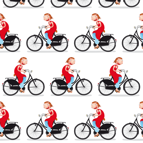 bikes fabric by verycherry on Spoonflower - custom fabric
