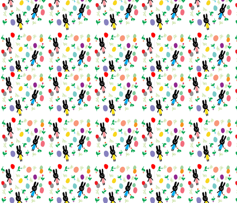 rabbit fabric by tamptation on Spoonflower - custom fabric