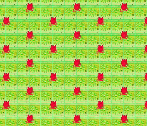 Heart 2 Heart-Green fabric by kkitwana on Spoonflower - custom fabric