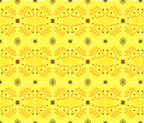 Heart 2 Heart-Yellow COMP fabric by kkitwana on Spoonflower - custom fabric