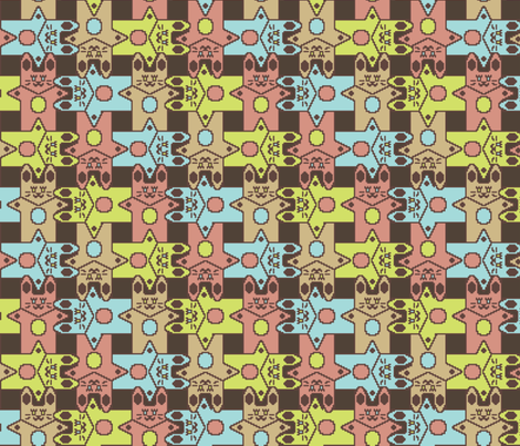 A Hare Weave fabric by kdl on Spoonflower - custom fabric