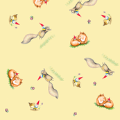 Gnomie Friends- Butter Background